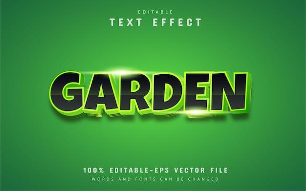 Texte de jardin, effet de texte de style dégradé vert
