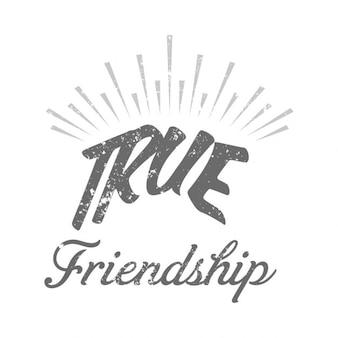 Texte journée de l'amitié véritable dessiné à la main