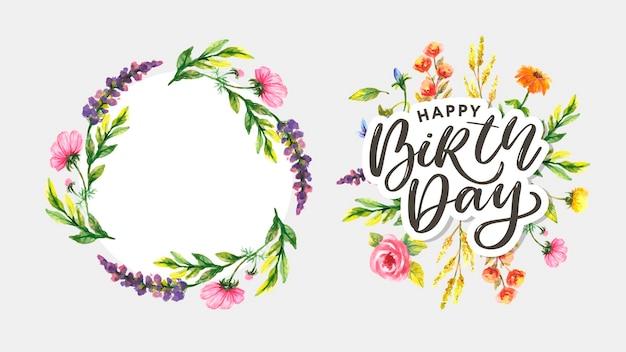 Texte de lettre de fleurs de carte de script de remerciement mignon