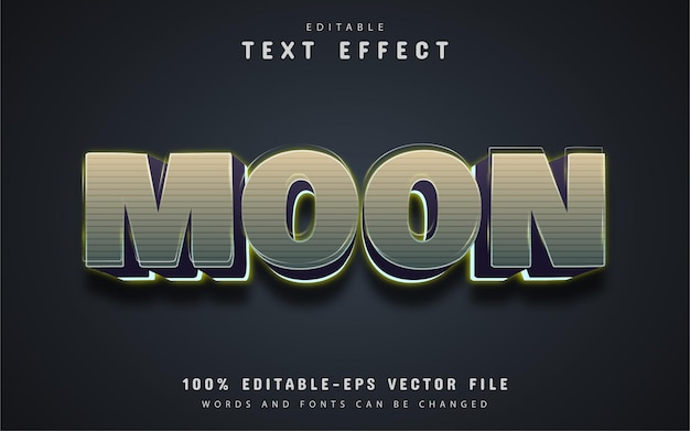 Texte de lune, effet de texte modifiable