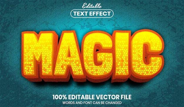 Texte magique, effet de texte modifiable de style de police