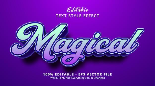 Texte magique sur un style d'événement de titre élégant, effet de texte modifiable