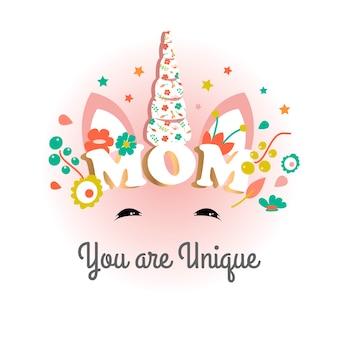 Texte maman décorée de belle
