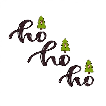 Texte manuscrit du nouvel an - ho ho ho