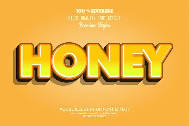 Texte de miel, effet de police