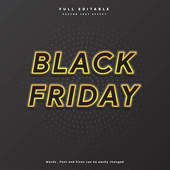 Texte moderne noir vendredi or avec fond de cercle pour affiche flyer bannière et vecteur etc.