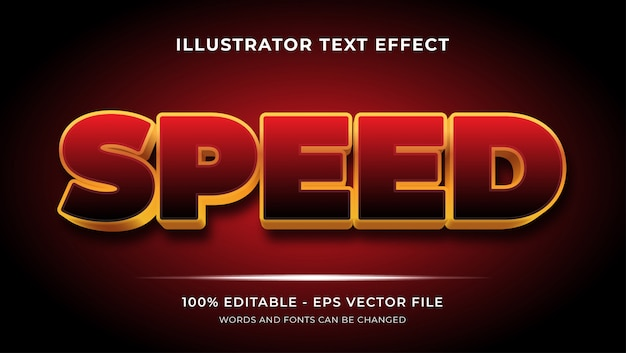 Texte modifiable des effets de style de vitesse