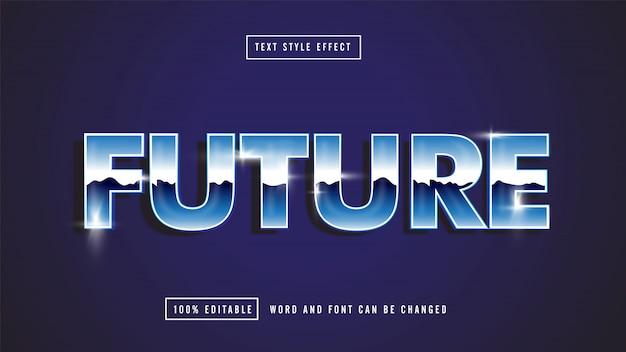 Texte Modifiable Future Blue Vecteur Premium