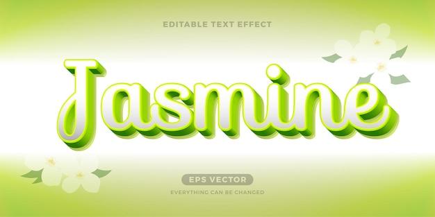 Texte modifiable jasmine