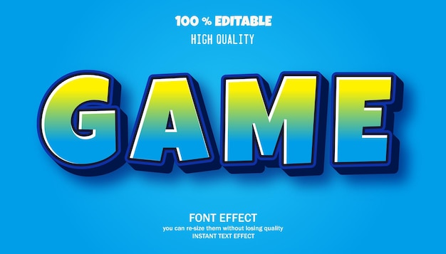 Texte modifiable de style dessin animé de jeu