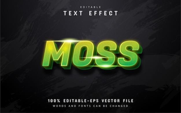 Texte de mousse, effet de texte dégradé vert