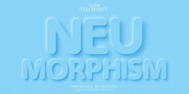 Texte de neumorphisme, nouvel effet de texte modifiable de style tendance design