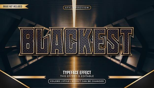 Texte noir et or élégant avec texture