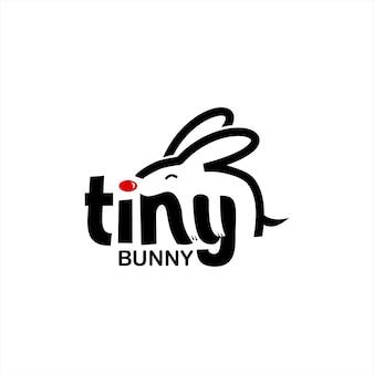 Texte noir simple avec lapin