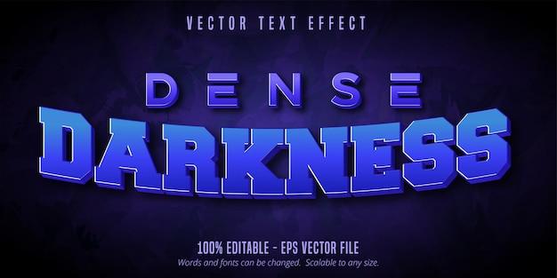 Texte d'obscurité dense, effet de texte modifiable de style de jeu