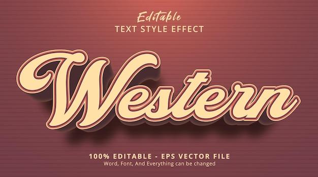 Texte occidental sur le style d'événement de titre, effet de texte modifiable