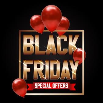 Texte d'or noir vendredi super vente