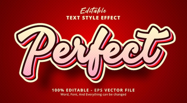 Texte parfait sur effet de texte de couleur claire, effet de texte modifiable