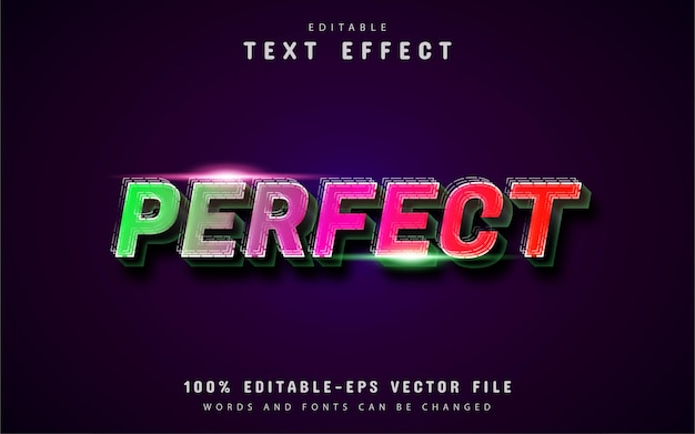 Texte parfait, effet de texte de style dégradé