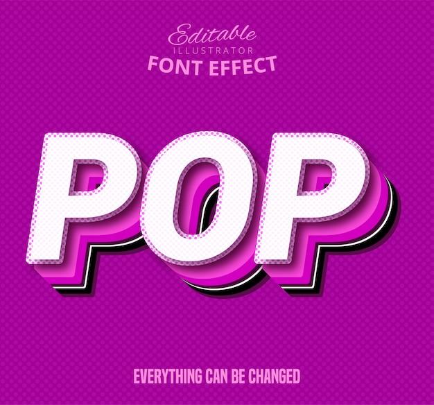 Texte pop, effet de police modifiable