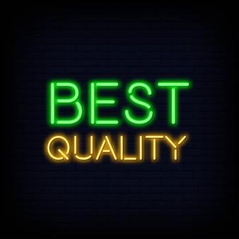 Texte de qualité supérieure au néon
