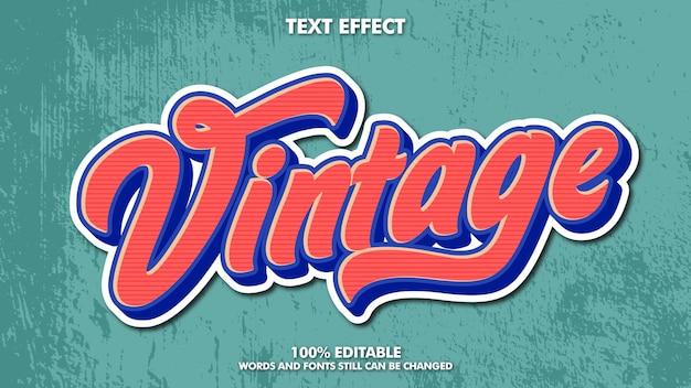 Texte rétro vintage modifiable