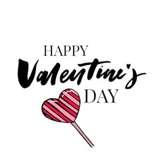 Texte de saint valentin de vecteur