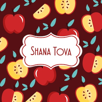 Texte de shana tova avec des pommes