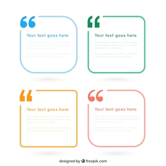 Le texte simple pack de cadres