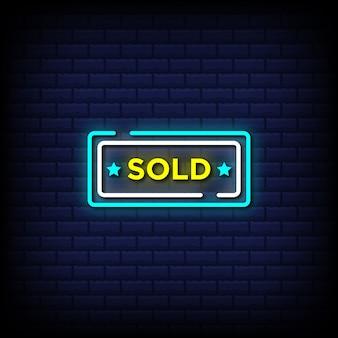 Texte de style enseigne au néon vendu