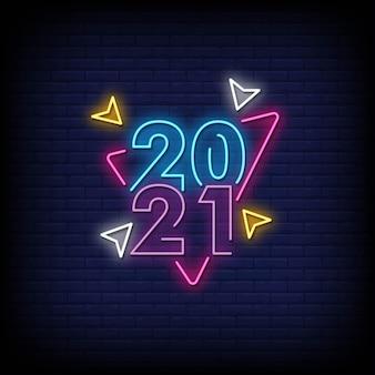 Texte de style des enseignes au néon 2021