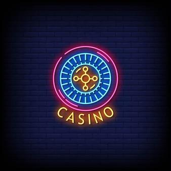 Texte de style d'enseignes au néon de casino