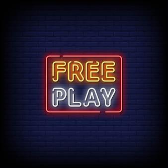 Texte de style d'enseignes au néon de jeu gratuit
