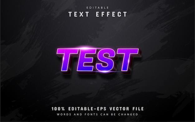 Texte de test - effet de texte dégradé violet