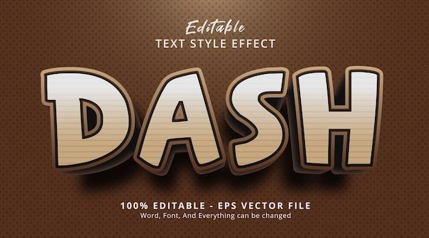 Texte de tiret sur l'effet de style d'affiche de titre, effet de texte modifiable