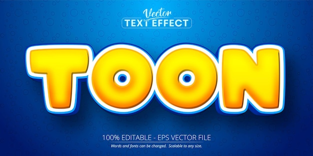 Texte de toon, effet de texte modifiable de style dessin animé