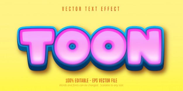 Texte toon, effet de texte modifiable de style de jeu