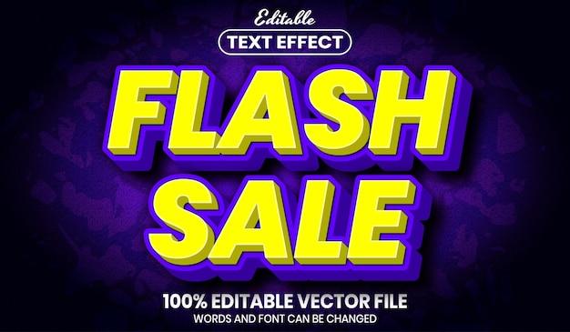 Texte de vente flash, effet de texte modifiable de style de police