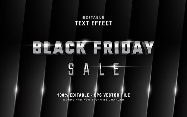 Texte de vente vendredi noir argenté de style graphique