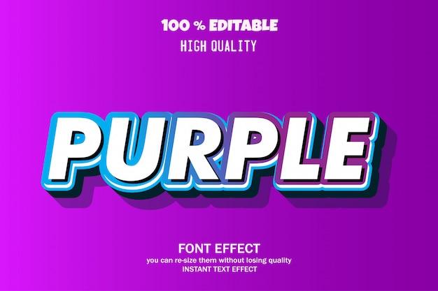 Texte violet, effet de police modifiable