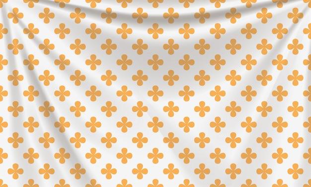 Textile En Or Blanc Réaliste Avec Plis Vecteur Premium