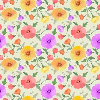 Textile de tissu motif sans couture de fleurs colorées.