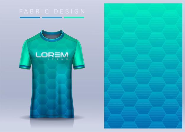 Textile de tissu pour le modèle de maillot de football de tshirt de sport pour la vue de face uniforme de club de football