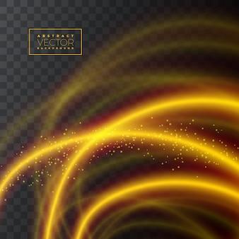 Texture abstraite effet lumineux brillant sur fond transparent
