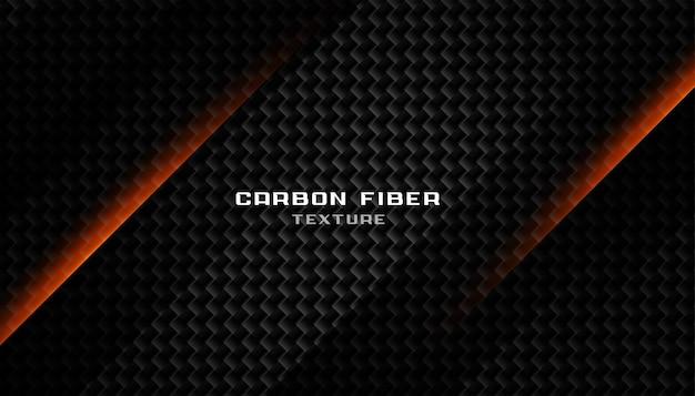 Texture abstraite en fibre de carbone noir foncé