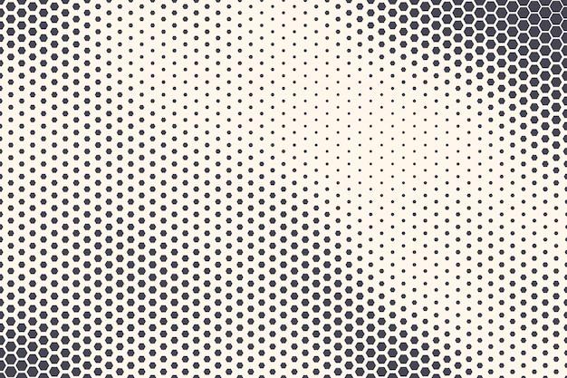 Texture abstraite de la technologie de la structure hexagonale