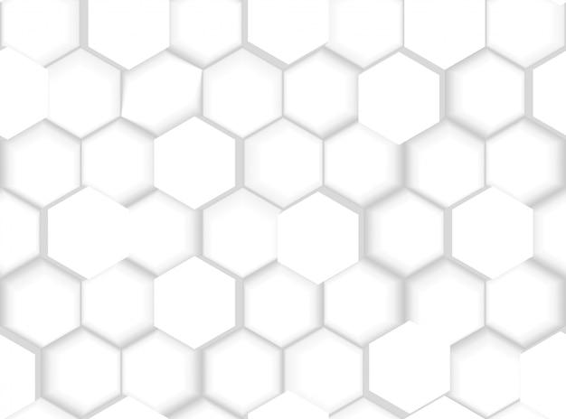 Texture abstraite transparente motif hexagonal avec des hexagones et des nuances 3d