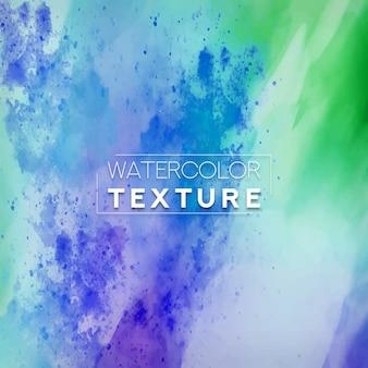 Texture aquarelle avec des éclaboussures vertes et bleues