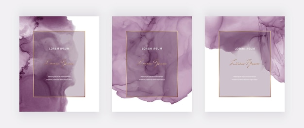 Texture aquarelle d'encre violet alcool