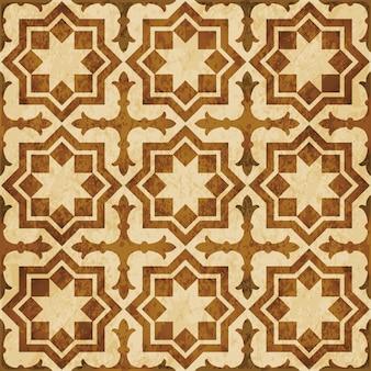 Texture aquarelle marron, modèle sans couture, géométrie croix étoile islamique